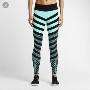 Nike Pants - Nike Legendary Mezzo Zebra Stripe Leggings Blue XS